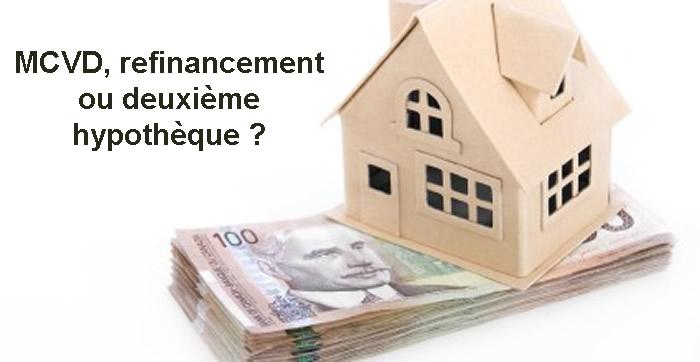 Photo of MCVD, refinancement ou deuxième hypothèque ?