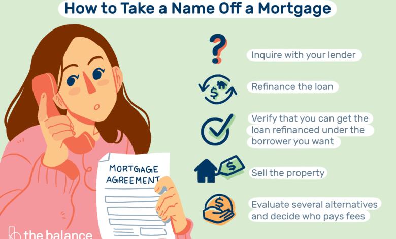 Comment supprimer un nom d'un prêt hypothécaire (lorsque cela est autorisé)