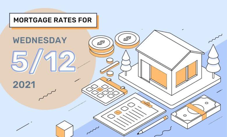Photo of Taux et tendances hypothécaires d'aujourd'hui, 12 mai 2021