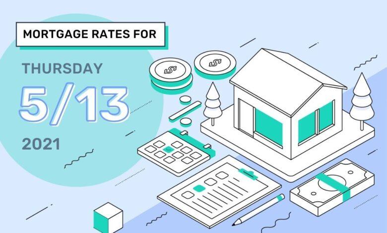 Photo of Taux et tendances hypothécaires d'aujourd'hui, 13 mai 2021