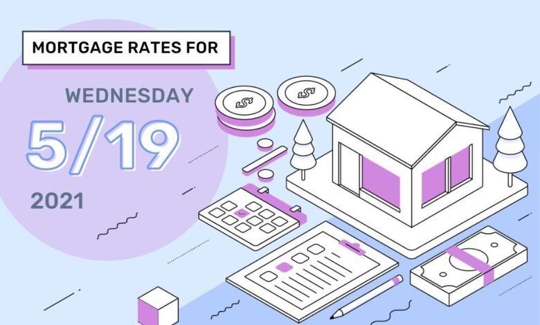 Photo of Taux et tendances hypothécaires d'aujourd'hui, 19 mai 2021