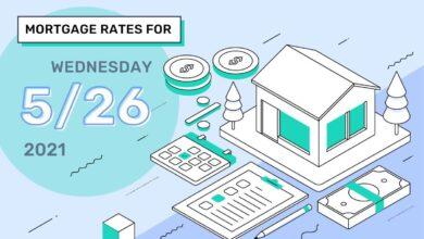 Photo of Taux et tendances hypothécaires d'aujourd'hui, 26 mai 2021