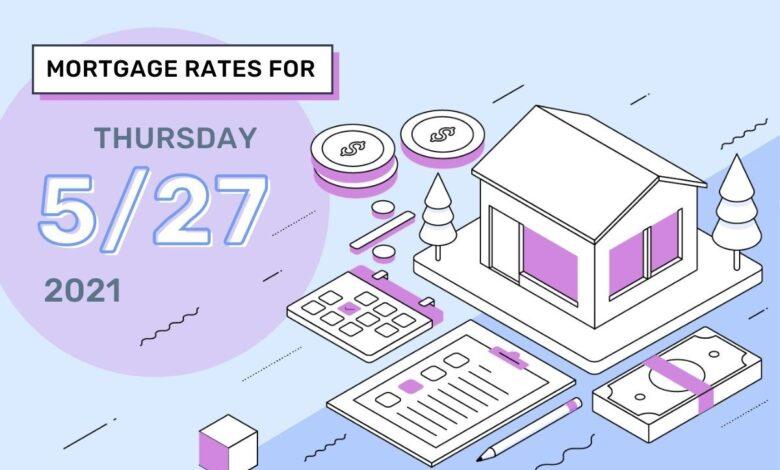 Taux et tendances hypothécaires d'aujourd'hui, 27 mai 2021