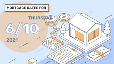 Photo of Taux et tendances hypothécaires d'aujourd'hui, 10 juin 2021