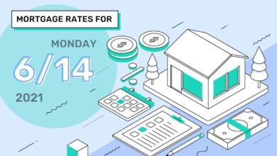 Photo of Taux et tendances hypothécaires d'aujourd'hui, 14 juin 2021