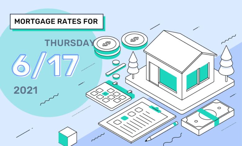 Taux et tendances hypothécaires d'aujourd'hui, 17 juin 2021