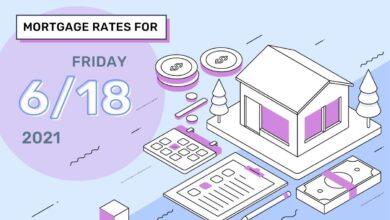 Photo of Taux et tendances hypothécaires d'aujourd'hui, 18 juin 2021