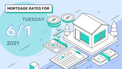 Photo of Taux et tendances hypothécaires d'aujourd'hui, 1er juin 2021