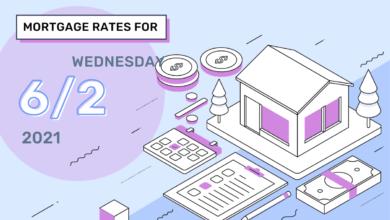 Photo of Taux et tendances hypothécaires d'aujourd'hui, 2 juin 2021