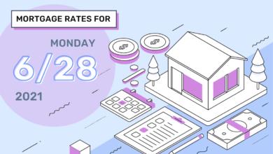 Photo of Taux et tendances hypothécaires d'aujourd'hui, 28 juin 2021