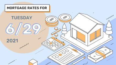 Photo of Taux et tendances hypothécaires d'aujourd'hui, 29 juin 2021