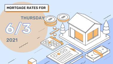 Photo of Taux et tendances hypothécaires d'aujourd'hui, 3 juin 2021