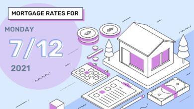 Photo of Taux et tendances hypothécaires d'aujourd'hui, 12 juillet 2021