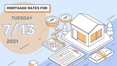 Photo of Taux et tendances hypothécaires d'aujourd'hui, 13 juillet 2021