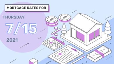 Photo of Taux et tendances hypothécaires d'aujourd'hui, 15 juillet 2021