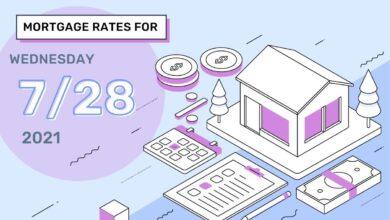 Photo of Taux et tendances hypothécaires d'aujourd'hui, 28 juillet 2021