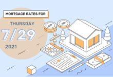 Photo of Taux et tendances hypothécaires d'aujourd'hui, 29 juillet 2021