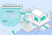 Photo of Taux et tendances hypothécaires d'aujourd'hui, 30 juillet 2021