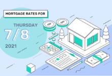 Photo of Taux et tendances hypothécaires d'aujourd'hui, 8 juillet 2021