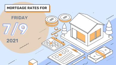 Photo of Taux et tendances hypothécaires d'aujourd'hui, 9 juillet 2021