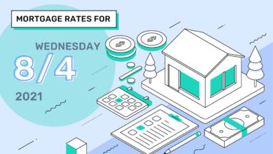 Photo of Taux et tendances hypothécaires d'aujourd'hui, 4 août 2021